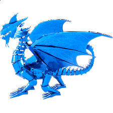 Metal Earth: Iconx 3D Metal Model Kit - Blue Dragon - New Items
