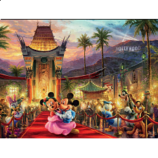 Thomas Kinkade: Disney - Mickey and Minnie Hollywood -
