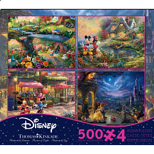 Thomas Kinkade: Disney 4 in 1 Jigsaw Puzzle Collection#4 -