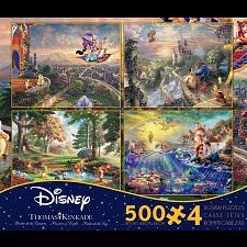 Thomas Kinkade: Disney 4 in 1 Jigsaw Puzzle Collection#5 -