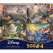 Thomas Kinkade: Disney 4 in 1 Jigsaw Puzzle Collection#5 -