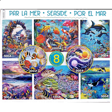8 in 1 Puzzle Set - Seaside - 101-499 Pieces