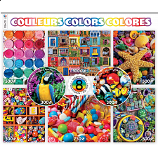 8 in 1 Puzzle Set - Colors - 101-499 Pieces