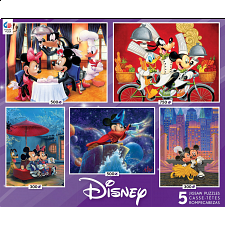 Disney: 5 in 1 Jigsaw Puzzle Collection - 101-499 Pieces