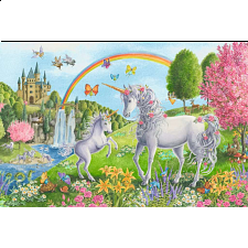 Prancing Unicorns - Super Sized Floor Puzzle - New Items