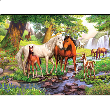 Horses By The Stream -