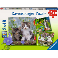 Tiger Kittens - 3 x 49 piece puzzles - New Items