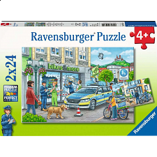 Police At Work! - 2 x 24 piece puzzles - 1-100 Pieces