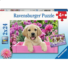 Me And My Pal - 2 x 24 piece puzzles - 1-100 Pieces