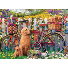 Cute Dogs In The Garden - New Items