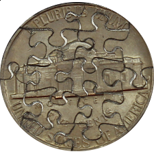 14 Piece Nickel - Coin Jigsaw Puzzle - 1-100 Pieces
