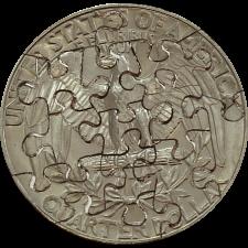 15 Piece Quarter - Coin Jigsaw Puzzle -