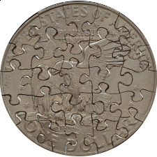 25 Piece Large Dollar - Coin Jigsaw Puzzle -