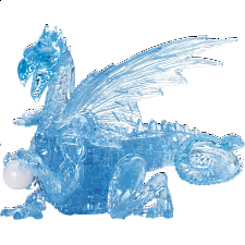 3D Crystal Puzzle Deluxe - Dragon (Blue) - 3D Crystal Puzzles