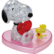 3D Crystal Puzzle - Snoopy Heart -