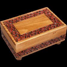 Waved Motif (Large) - Secret Box - Wood Puzzles