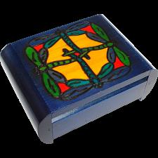 Dragonfly Secret Box - Blue - Wood Puzzles
