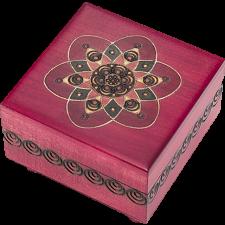 Fuchsia Kaleidoscope Puzzle Box - Wood Puzzles
