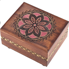 Floral Pattern #2 Puzzle Box - Wood Puzzles