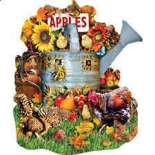 Fall Watering Can - Shaped Jigsaw Puzzle - Shaped