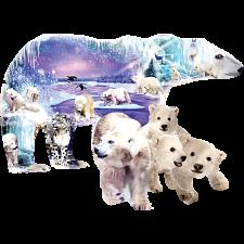 Polar Bear World - Shaped Jigsaw Puzzle -
