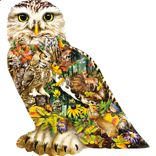 Forest Messenger - Shaped Jigsaw Puzzle -