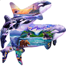 Orca Habitat - Shaped Jigsaw Puzzle - Search Results