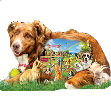 Dog Park - Shaped Jigsaw Puzzle - New Items