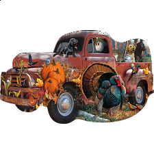 Harvest Truck - Shaped Jigsaw Puzzle - Shaped