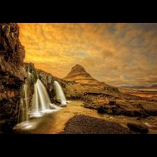 Kirkjufellsfoss Waterfall, Iceland -