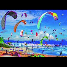 Kitesurfing -