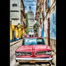 Vintage Car in Old Havana -