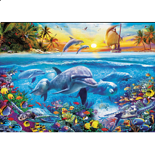 Family of Dolphins - 1001 - 5000 Pieces