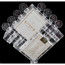 Bitcoin Puzzle with 2 White Playing Card Decks -