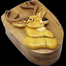 Deer Head - 3D Puzzle Box - Wood Puzzles