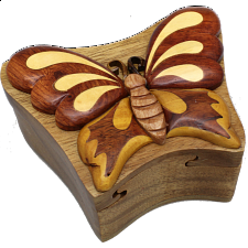 Butterfly - 3D Puzzle Box - Wooden Puzzle Boxes