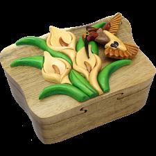 Hummingbird - 3D Puzzle Box - Wood Puzzles