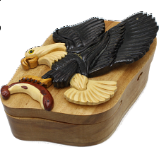 Eagle in Flight - 3D Puzzle Box - Wood Puzzles