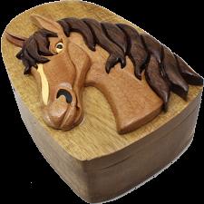 Horse Head - 3D Puzzle Box - Wood Puzzles