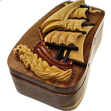 Tall Ship - 3D Puzzle Box - Wood Puzzles