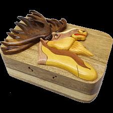 Moose Head - 3D Puzzle Box - Puzzle Boxes