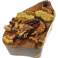 Dragon - 3D Puzzle Box - Wood Puzzles