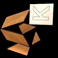 Letter K in Wood Box -