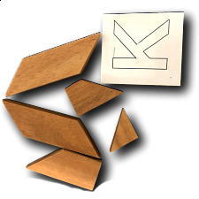 Letter K in Wood Box -