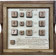 Math Challenge 1-9 - Other Wood Puzzles