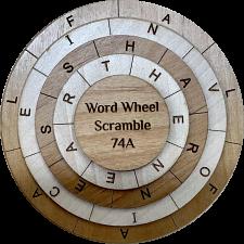 Word Wheel Scramble 74A -