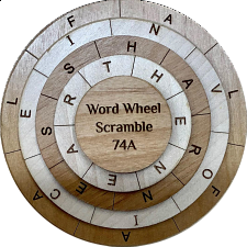 Word Wheel Scramble 74A - Other Wood Puzzles