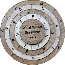 Word Wheel Scramble 74B - Other Wood Puzzles