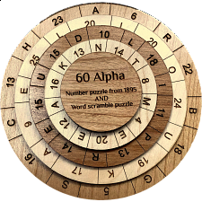 60 Alpha Puzzle - Other Wood Puzzles
