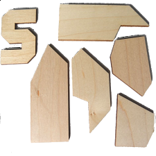Letter S Puzzle - Other Wood Puzzles